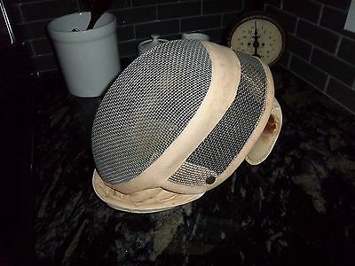 Old Vintage Fencing Head Gear Nice Condition Conversation Display Free Shipping