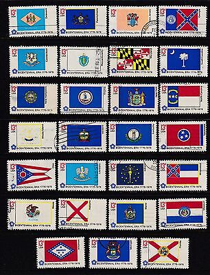 US stamps - #1633-1682 - Bicentennial State Flags  - 1976 - used - F964