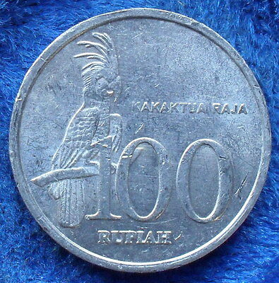 """INDONESIA - 100 rupiah 1999 """"Palm Cockatoo"""" KM# 61 - Edelweiss Coins"""