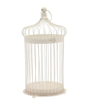 Wedding Birdcage cream metal bridal bird cage 30cm