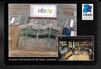 Sao Paulo Guarulhos International Airport Aerial View Brazil Postcard