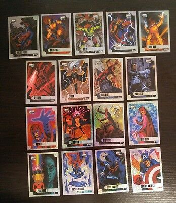 Marvel Masterpieces 2016 Joe Jusko Holofoil Chase Card Set of 17