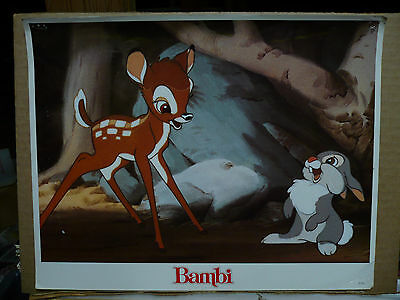 BAMBI, 1980's reissue LC (Bambi and Thumper) - Disney animation