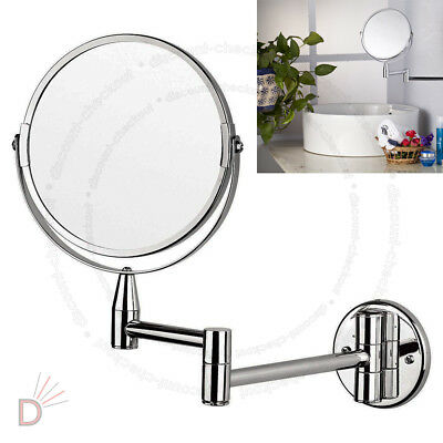New Wall Mounted 5x Magnifying Bathroom Make Up Shaving Mirror Double Side UKDC