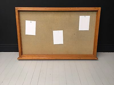 A large vintage oak framed notice-pin board. DELIVERY AVAILABLE.