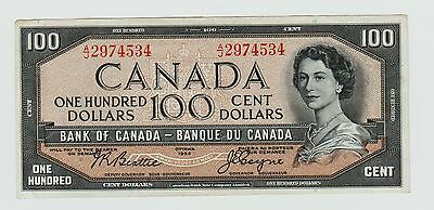 1954 Canada One Hundred Dollar Note