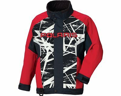 OEM Polaris Youth Red Black & White Snowmobile Ripper Jacket Insulated XS-XL