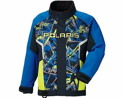 OEM Polaris Youth Blue & Lime Green Snowmobile Ripper Jacket Insulated XS-XL