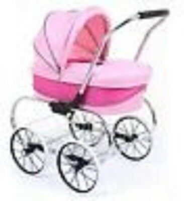 Brand New Valco Princess Dolls Hot Pink Pram Girls Stroller Play Buggy