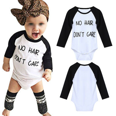 Newborn Baby Boy Girl Long Sleeve Cotton Bodysuit Romper Jumpsuit Outfit Clothes