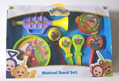 New Teletubbies Musical Band Set Toy Drum Trumpet Castanets Tamborine Music Play