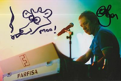 Clint Boon Hand Signed 12x8 Photo Inspiral Carpets.