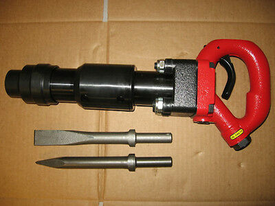 Pneumatic Air 4 Bolt Chipping Hammer CH3RHX + 2 Bits
