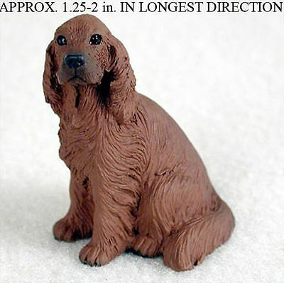 Irish Setter Mini Resin Hand Painted Dog Figurine Statue