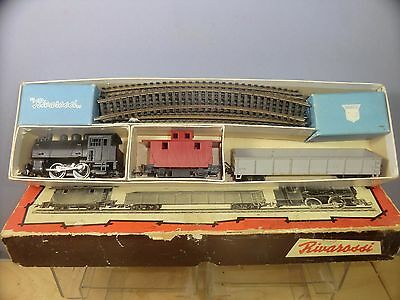 VINTAGE RIVAROSSI 1950's MODEL No 1 B & 0  A/R STEAM FREIGHT SET   VN MIB