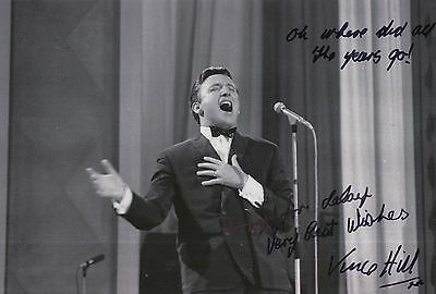 Vince Hill Hand Signed 12x8 Photo.