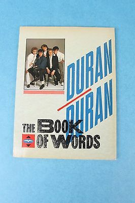 Vintage 1984 Duran Duran Rock Band The Book Of Words Signed By John Taylor