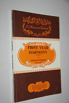 FIRST YEAR HARMONY WILLIAM LOVELOCK good used music book