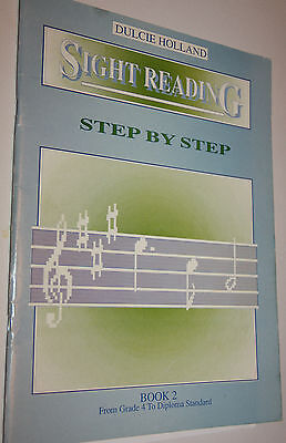 DULCIE HOLLAND SIGHT READING STEP BY STEP BOOK 2 GRADE 4 TO DIPLOMA music book