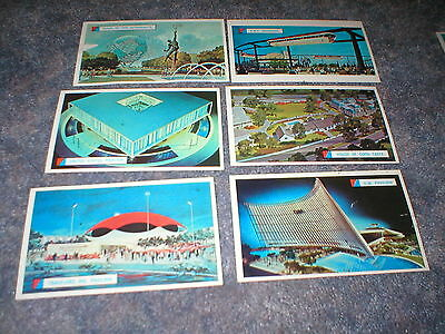 1964-65 New York Worlds Fair Cards-27 Different Postcard Sized Cards