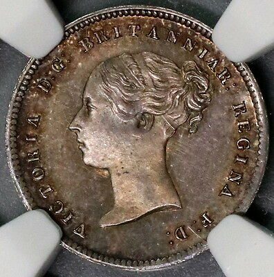 1857 NGC MS 65 Silver 4 Pence Victoria GREAT BRITAIN Coin POP 1/1 (16111519C)