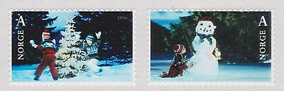 2006 NORWAY Christmas stamps, tree and snowman  NK 1631-32  MNH