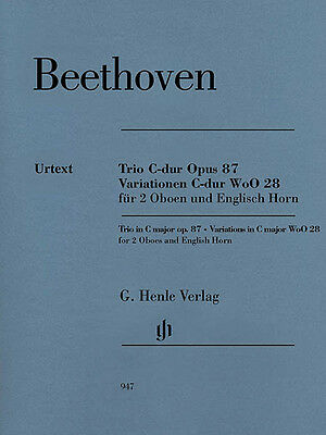 Beethoven Trio C Major Op 87 WoO 28 Oboe Horn Henle Urtext Sheet Music Book NEW