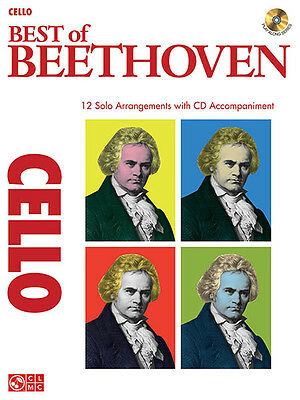 Best of Beethoven for Cello Solo Classical Sheet Music Play-Along Book CD NEW