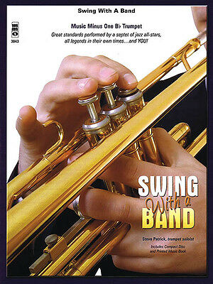 Swing with a Band Bb Trumpet Jazz Sheet Music Minus One Play-Along Book CD NEW