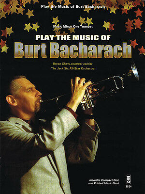 Play the Music of Burt Bacharach Trumpet Sheet Music Minus One Book CD Pack NEW