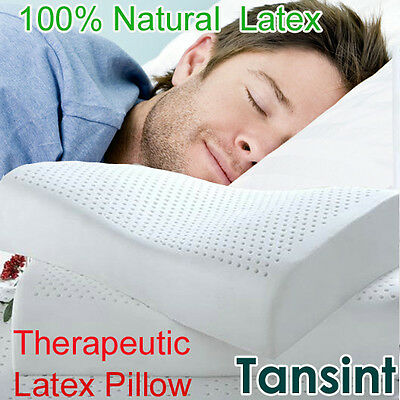 Soft ECO Natural Latex Contoured Therapeutic Pillow 100% Poly&Rayon Cover