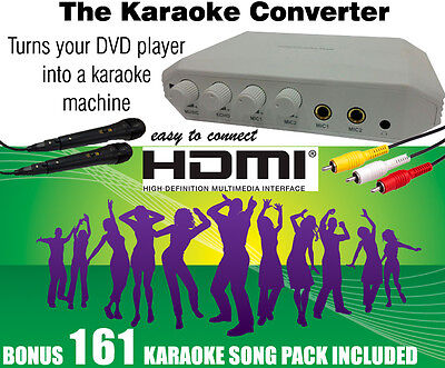 Hdmi And Rca Karaoke Convertor / 161 Pop Songs With 2 Microphones