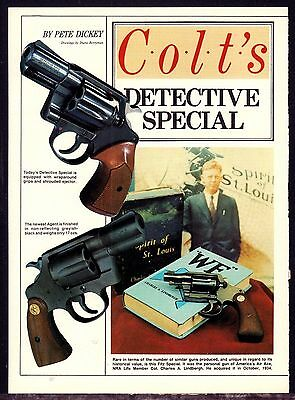 1984 COLT Detective Special Revolver 4-pg Article by Pete Dickey