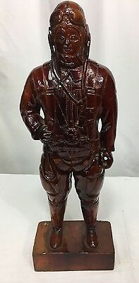 WWII Japanese Large Wood Carved Army Pilot Statue