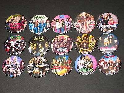 80's Hair Bands Buttons /  Pins 15