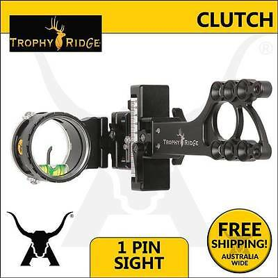 Trophy Ridge Clutch Bow Sight - Single Pin Target and Hunting