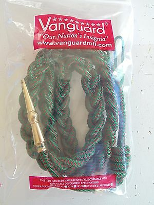Usmc Us Marine Corps Division Green Red Braided Uniform Aiguillette W/ Gold Tip