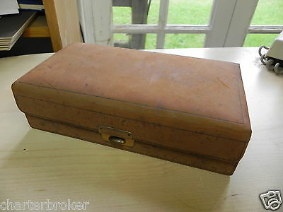 Edwardian Or Later, Real High Quality Kid Leather Bridge Card Box