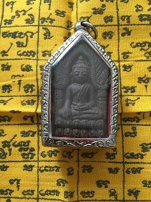 Old Vintage Thai Amulet  Blessed in Thailand Temple And Cased To Preserve
