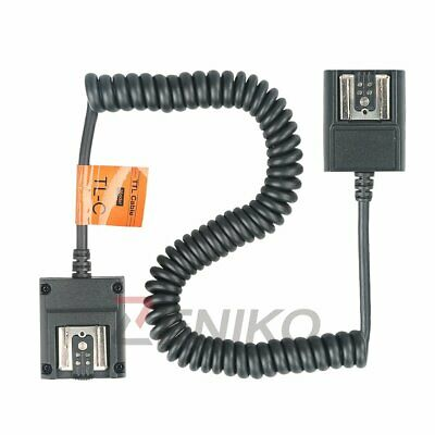 Godox 3m Flash TTL Off-Camera 2-Hot-Shoe Sync Cord Cable for Canon speedlite