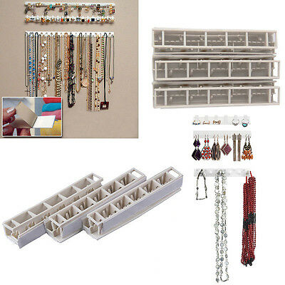 Jewelry Display Organizer Show Rack Wall Mount Hanger Necklace Ring Bracelet