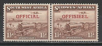 South West Africa 1945 Official 11/2D Train Pair