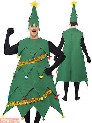 Adults Deluxe Christmas Tree Costume Mens Ladies Xmas Fancy Dress Novelty Outfit