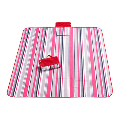 Hiking Travel Stripe Pattern Moisture Resistant Blanket Picnic Mat 180 x 145cm