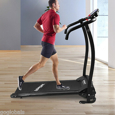 Upright Folding Magnetic Exercise Bike Gym Cycling LCD Cardio Stationary Trainer