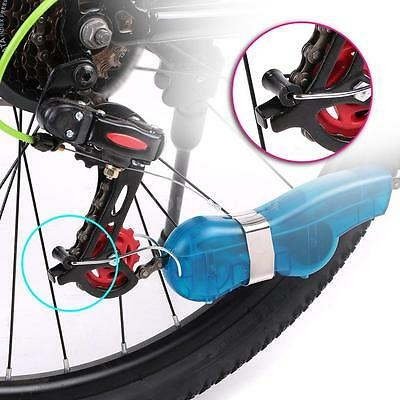 Cycling Bike Bicycle 3D Chain Cleaner Machine Brushes Scrubber Clean Tool I6Y2