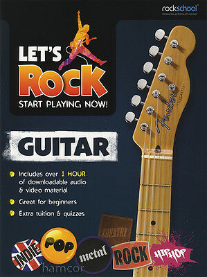 Let's Rock Guitar Rockschool Learn How to Play Beginner Tuition Method