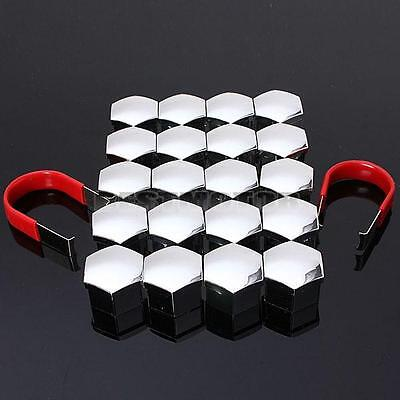 20Pcs 19mm Universal ABS Car Wheel Lug Nut Bolt Cover Caps With 2 Removal Tools