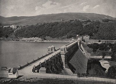 LAKE VYRNWY. The Dam. Wales 1900 old antique vintage print picture