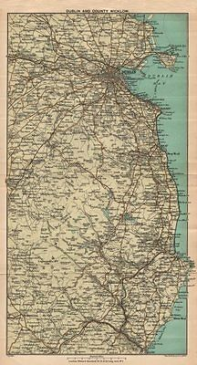 IRELAND. Dublin and County Wicklow. Coast. STANFORD 1908 old antique map chart